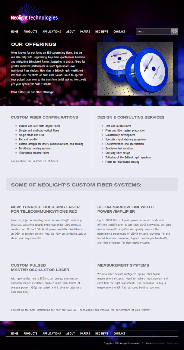 Neolight Technologies (products page)