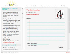 The Design Can (contact page)